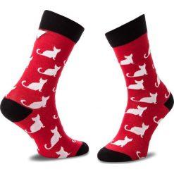 Skarpety Wysokie Unisex CUP OF SOX - Czerwone Skarpety W Całkiem Białe Koty A Czerwony Kolorowy. Czerwone skarpetki męskie marki Happy Socks, z bawełny. Za 24,00 zł.