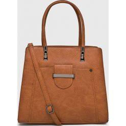 Answear - Torebka. Brązowe torebki klasyczne damskie ANSWEAR, z materiału, duże. W wyprzedaży za 99,90 zł.