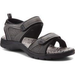 Sandały LANETTI - MS17012-1 Szary. Szare sandały męskie skórzane marki Lanetti. W wyprzedaży za 79,99 zł.