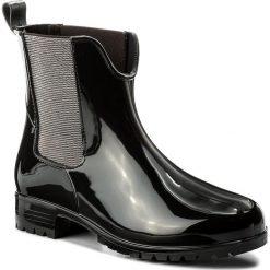 Kalosze TAMARIS - 1-25445-2 Black 001. Czarne buty zimowe damskie Tamaris, z materiału. W wyprzedaży za 149,00 zł.