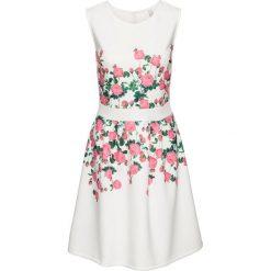 Sukienki: Sukienka w kwiaty bonprix biało-jasnoróżowy