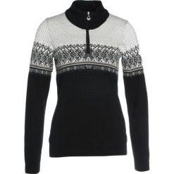 Swetry klasyczne damskie: Dale of Norway HOVDEN Sweter black/light charcoal/smoke beige/off white