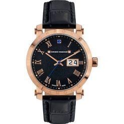 """Zegarki męskie: Zegarek kwarcowy """"Nestorius"""" w kolorze czarno-różowozłotym"""