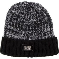 Czapka GUESS - AM7927 WOL01 BLA. Szare czapki męskie marki Guess, z aplikacjami, z materiału. Za 139,00 zł.