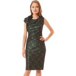 Sukienki hiszpanki: Sukienka w kolorze czarno-zielonym