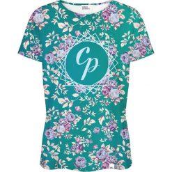 Colour Pleasure Koszulka damska CP-030 261 zielono-różowa r. XL/XXL. Czerwone bluzki damskie Colour pleasure, xl. Za 70,35 zł.