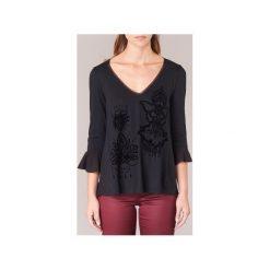 T-shirty z długim rękawem Desigual  LAMAC. Szare t-shirty damskie marki BE, s, z nadrukiem, eleganckie, z klasycznym kołnierzykiem. Za 153,30 zł.