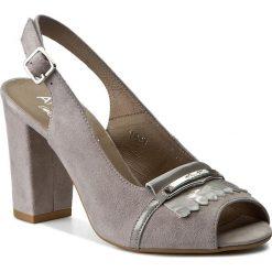 Rzymianki damskie: Sandały ANN MEX – 7989 11W+11LR Szary