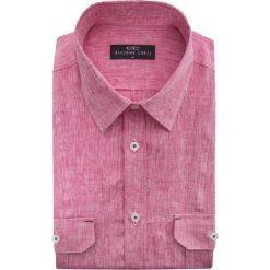 Koszula ALESSIO 15-03-26-K. Fioletowe koszule męskie na spinki Giacomo Conti, na lato, m, z tkaniny, z krótkim rękawem. Za 199,00 zł.