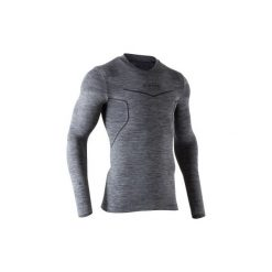 Koszulka termoaktywna długi rękaw dla dorosłych Kipsta Keepdry 500. Czarne odzież termoaktywna męska marki KALENJI, m, z materiału, do biegania. Za 49,99 zł.