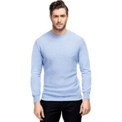 Sweter ADALBERTO SWNR000205. Niebieskie swetry klasyczne męskie Giacomo Conti, m, z bawełny. Za 229,00 zł.