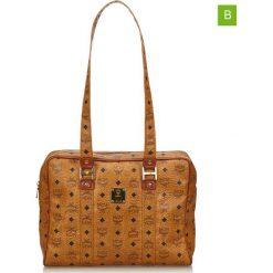 Torebki klasyczne damskie: Skórzana torebka w kolorze jasnobrązowym – 27 x 35 x 10 cm