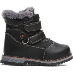 Czarne Traperki Nonrural. Czarne buty zimowe chłopięce Born2be, z materiału, z okrągłym noskiem, na zamek. Za 64,99 zł.