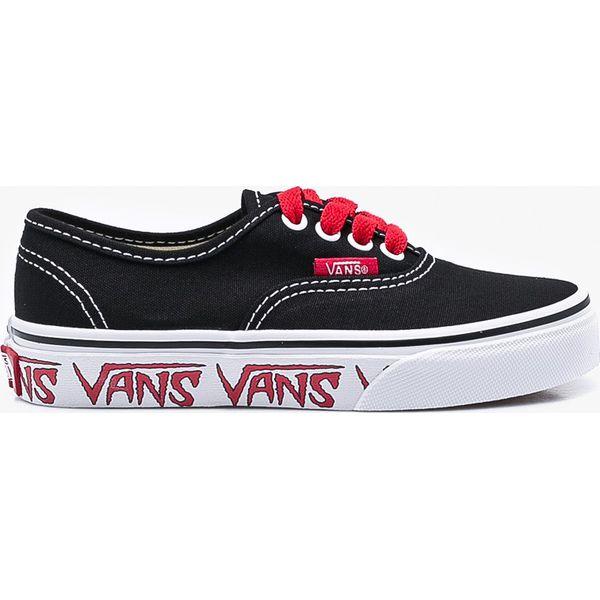 8d707e809e211 Vans - Tenisówki dziecięce Authentic - Czarne trampki dziewczęce Vans, bez  wzorów, z materiału, na sznurówki. Za 199,90 zł.