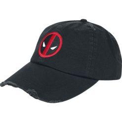 Deadpool Logo - Vintage Czapka baseballowa czarny. Czarne czapki z daszkiem damskie Deadpool, z aplikacjami. Za 79,90 zł.