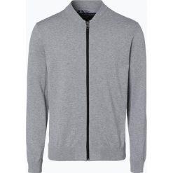 Swetry rozpinane męskie: Nils Sundström – Kardigan męski, szary