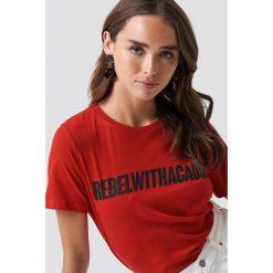 T-shirty damskie: NA-KD Trend T-shirt Rebel - Red