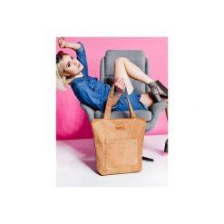 Duża torba typu shopper Mili Chic MC4 - camel. Brązowe shopper bag damskie Militu, duże. Za 179,00 zł.