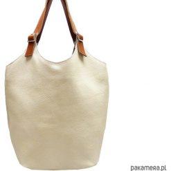 Torebka skórzana ecru. Brązowe torebki klasyczne damskie Pakamera, ze skóry. Za 210,00 zł.