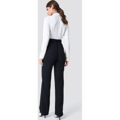 Kombinezony damskie: Trendyol Kombinezon z paskiem - Black,White,Multicolor