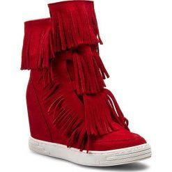 Sneakersy R.POLAŃSKI - 0818 Czerwony. Czarne botki damskie na obcasie marki R.Polański, ze skóry. W wyprzedaży za 279,00 zł.