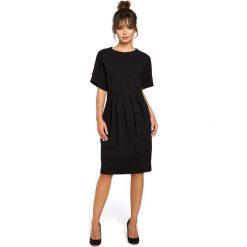 CARLOTTA Sukienka z zakładkami - czarna. Szare sukienki balowe marki bonprix, melanż, z dresówki, z kapturem, z długim rękawem, maxi. Za 159,90 zł.