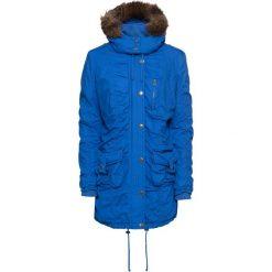 Płaszcz zimowy bonprix lazurowy niebieski. Niebieskie płaszcze damskie pastelowe bonprix, na zimę. Za 269,99 zł.