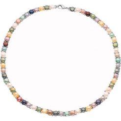 Naszyjniki damskie: Naszyjnik z pereł z kolorowym wzorem – dł. 40 cm