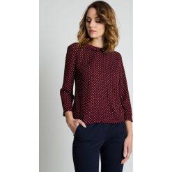 Bluzki asymetryczne: Luźna bluzka w groszki BIALCON