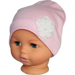 Czapka niemowlęca bawełniana W-72 N. Różowe czapeczki niemowlęce Proman, z bawełny. Za 18,57 zł.