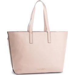 Torebka CALVIN KLEIN - Drive Shopper K60K604460 007. Brązowe shopper bag damskie Calvin Klein, ze skóry ekologicznej, na ramię. Za 699,00 zł.