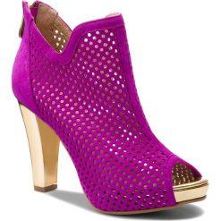 Botki R.POLAŃSKI - 0929 Fuksja Zamsz. Fioletowe buty zimowe damskie R.Polański, ze skóry, na obcasie. W wyprzedaży za 269,00 zł.