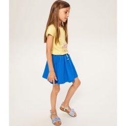 Bawełniana spódnica dresowa - Niebieski. Niebieskie spódniczki dziewczęce Reserved, z bawełny. W wyprzedaży za 14,99 zł.