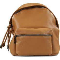 """Plecaki damskie: Skórzany plecak """"Brenda"""" w kolorze brązowym – 24 x 29 x 6 cm"""