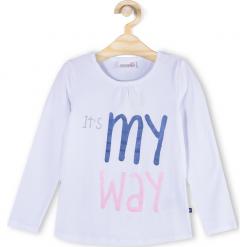 Koszulka. Niebieskie bluzki dziewczęce bawełniane marki bonprix, z długim rękawem, długie. Za 29,90 zł.