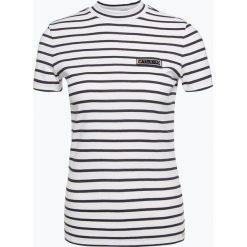 BOSS Casual - T-shirt damski – Tastreif, niebieski. Niebieskie t-shirty damskie BOSS Casual, xl, w prążki, ze stójką. Za 269,95 zł.