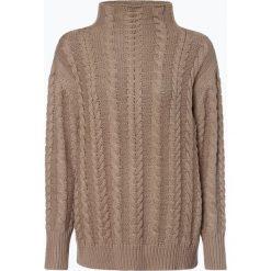 Marie Lund - Sweter damski, beżowy. Brązowe swetry klasyczne damskie Marie Lund, l, z dzianiny, z golfem. Za 229,95 zł.
