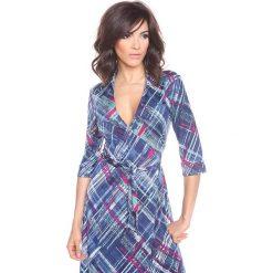 """Sukienki hiszpanki: Sukienka """"Ramy"""" w kolorze niebieskim"""