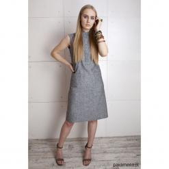 Sukienka z lnu w kolorze szarym. Niebieskie sukienki balowe marki Pakamera, z bawełny. Za 99,00 zł.