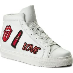 Sneakersy BADURA - 6362-69 Biały 1105. Białe sneakersy damskie Badura, z materiału. W wyprzedaży za 299,00 zł.