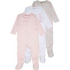 Mothercare GIRLS MODERN LAYETTE SLEEPSUIT BABY 3 PACK  Piżama pale pink. Czerwone bielizna dziewczęca mothercare, z bawełny. Za 159,00 zł.