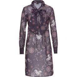 Sukienki: Sukienka bonprix ciemnobrązowy wzorzysty