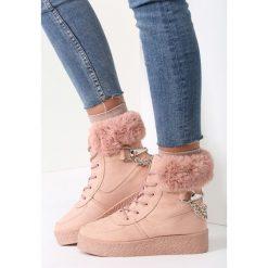 Różowe Sniegowce Stop The Rain. Czerwone buty zimowe damskie vices, z materiału. Za 89,99 zł.