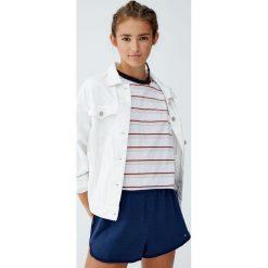 Koszulka w tęczowe paski. Szare t-shirty damskie Pull&Bear, w paski. Za 34,90 zł.