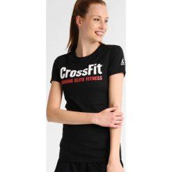 Reebok SPEEDWICK Tshirt z nadrukiem black. Czarne t-shirty damskie Reebok, xl, z nadrukiem, z bawełny. Za 129,00 zł.