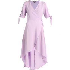 Długie sukienki: Topshop DUSTY TIE SLEEVE WRAP Długa sukienka lilac