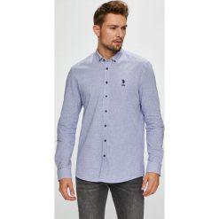 U.S. Polo - Koszula. Szare koszule męskie na spinki marki S.Oliver, l, z bawełny, z włoskim kołnierzykiem, z długim rękawem. W wyprzedaży za 299,90 zł.