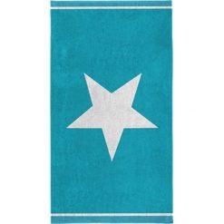 """Kąpielówki męskie: Ręcznik plażowy """"Star"""" w kolorze błękitno-białym"""