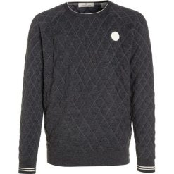 Swetry chłopięce: Scotch Shrunk QUILTED CREW NECK Sweter antra melange