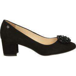 Czółenka - 671-421-S NER. Czarne buty ślubne damskie Venezia, ze skóry. Za 199,00 zł.